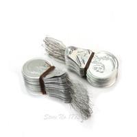 handstichmaschinen großhandel-100x Silber Ton Draht Schleife DIY Einfädler Stich Einfügen Hand Maschine Nähwerkzeug AA7408
