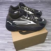 kadınlar için kahverengi süet ayakkabı toptan satış-Kutu Ile 2019 700 v2 Geode Koyu Kahverengi Siyah Erkekler Kadınlar Koşu Ayakkabı 3 M Yansıtıcı Süet Spor Sneakers