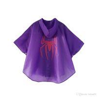 capa impermeável venda por atacado-capas de super-heróis crianças capa de chuva prática durável impermeáveis chuva cape criança impermeável trajes de Halloween
