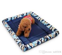ingrosso stampa della zampa tiro coperta gatto-2018 hot Pet Bed Cuscino Tappetino per cani Cane Gatto Canile Cassa Accogliente Soft House S-XL