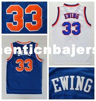 Wholesale authentic college basketball jerseys resale online - Mens Patrick Ewing Basketball Jerseys Authentic Classic White Blue Patrick Ewing Stitched Jerseys Ncaa College