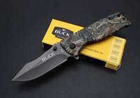 katlanır taktik katlanır bıçaklar toptan satış-Buck - taktik katlanır EDC av bıçağı kamp sağkalım taktik askeri bıçak savunmada açık x58 pratik Taktik bıçak