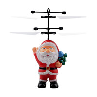 Wholesale inductive toy resale online - Flying Inductive Mini RC Drone Christmas Santa Claus Induction Aircraft RC Helicopter for Kids Christmas New Year Gifts