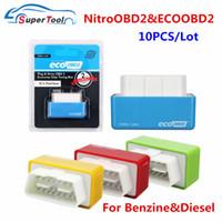 Wholesale car ecu chips resale online - 10PCS Nitro OBD2 ECOOBD2 Car Fuel Saver Nitroobd2 E co OBD Diesel Benzine ECU Chip Tuning Box Plug Driver ECO Nitro OBD2