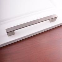 gavetas de porta venda por atacado-Ferragem da porta de liga de alumínio Móveis para casa Hardware de cozinha Gaveta da gaveta Gabinete de prata Roupeiro armário T bar Lidar com puxadores DHl Livre