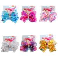 Wholesale girls hair bows 5.5 for sale - Group buy Free DHL JOJO Inch Boutique Laser Bowknot Hairpins Girls Bow Barrette Styles Baby Kids Hair Clip Children s Hair Accessories M851F