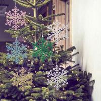 Wholesale home decor handmade crafts resale online - 8PCS Glitter Snowflake Christmas Ornament Snowflake Crafts Xmas Tree Party Wedding Decoration Handmade Home Decor