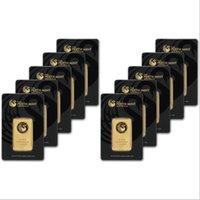 10pcs lot,Australia 1 oz Perth Mint Gold Bar Non-magnetic, plated 24k gold,Gift