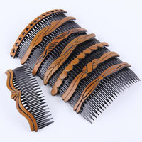 Wholesale hair insert comb resale online - New Arrivals Teeth Inserted Comb DIY Hair Accessories Hair Combs Supplies Hair Tool Fast Shipping