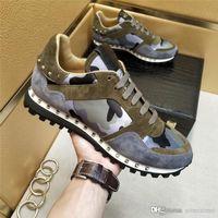 Wholesale Valent Garavaniss Camouflage Rockrunner Camo Sneakers Gray Mens Sneaker Trainers With Original Box