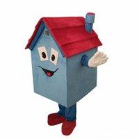 trajes por encargo para la venta al por mayor-Venta directa de fábrica Diy por encargo unisex mascota casa azul personaje de dibujos animados traje de la mascota fiesta del partido bienes raíces traje de la mascota