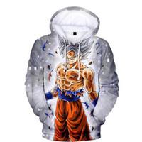 мужские толстовки оптовых-Dragon Ball Z Pocket Goku 3D Аниме Толстовки Толстовки Малыш Толстовки Пуловеры Мужчины Женщины Повседневная Верхняя одежда с длинным рукавом Новая толстовка с капюшоном