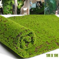 декоративные садовые травы оптовых-1 м*1 м искусственный мох ремесло поддельные декоративные травы для Рождества домашнего офиса моделирования завод DIY Декор стен сад микро пейзаж