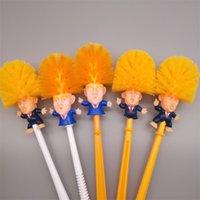 ingrosso bush case-Trend Trump Toilet Bush casa di plastica forniture per la pulizia Cartoon divertente maniglia pennelli Creative Semplice Pratica vendita calda 10hc Ww