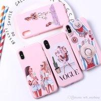 handytaschen für mädchen großhandel-Für iphone xs max xr 6 7 8 x plus mode mädchen trend sexy handy case urlaub multicolor tpu soft phone cases