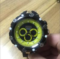 pin temporizador al por mayor-el dial grande del COSC suizo INVICTA hombres del logotipo gira cronómetro múltiples zonas horarias del silicón del reloj Todas las funciones trabajan