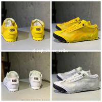 tigre amarillo al por mayor-MÉXICO 66 Onitsuka Tiger 2019 zapatillas deportivas nuevas para hombre mujer hombre Entrenadores chaussures blanco amarillo Diseñador de moda Zapatillas 36-44