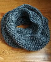 lenço cinza venda por atacado-Mulheres tricô cachecol cinza macio kitting envoltório quente inverno acessórios de moda suprimentos gravidez cachecol