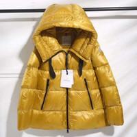 kadın ceketi yaka kemeri toptan satış-Yeni Kadın Kış Ördek Aşağı Ceket 100% Gerçek Büyük Rakun Kürk Yaka Aşağı Ceket Kapşonlu Ile Kemer Kalın Ördek Aşağı Parkas