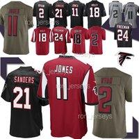lijadoras rojas al por mayor-11 Julio Jones Jersey Atlanta 21 Deion Sanders Falcon 2 Matt Ryan Ridley 18 24 Devonta Freeman balck rojo jerseys de 19 20