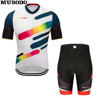 Wholesale team cycling jersey bib shorts set for sale - Group buy Team professional riding shirt Cycling Jersey Sportswear Short Sleeve Jersey Summer Breathable Bib Shorts Set Quick drying sports top