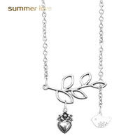 Wholesale bohemian owl necklace for sale - Group buy 2019 New Arrival Cute Bird Leaf Owl Pearl Pendant Earring for Women Vintage Silver Adjustable Size Necklace Fashion Jewelry Gift