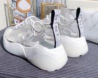 plattform schnüren sich oben schuh großhandel-Frühling neue Vintage Lace-up Schwamm Kuchen Plattform kleine weiße Schuhe transparente Film Turnschuhe Damen Mode beliebte Freizeitschuhe
