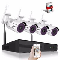 home security cctv kit großhandel-Überwachungssystem 4CH CCTV Wifi-Kamerasystem 720P / 960P / 1080P / 4MP Videoüberwachungs-Kit H.265 Home Security Wireless-Kamera
