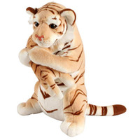 Wholesale tiger doll toy resale online - cute simulation mother and child tiger plush toy enlightenment cute tiger baby doll photo props kids gift deco cm inch DY50673