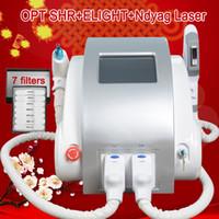 permanente entfernung großhandel-IPL-Rf-Laser-Haarentfernungsmaschine shr dauerhafte Haarentfernung elight Pigment-Diodenlaser-Haarmaschine und Yag-Laser