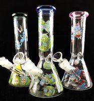 ingrosso in vetro in vetro-Nuovo design mini bicchiere bong in vetro con downstem inline perc Fumatore di vetro Recycler Sprinkler Flawless Oil Rigs Narghilè 18,8mm comune