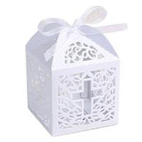 полая лента оптовых-Свадебные конфеты в форме полого креста. Коробки конфет с подарочной коробкой. Свадебные подарки для гостей.
