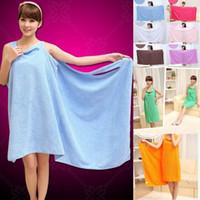 toalhas de banho venda por atacado-Sólido toalha Magic Color Bath Lady Meninas SPA toalha de banho Body Wrap Bath Robe Magic Girl Wearable banho Bath Skirt