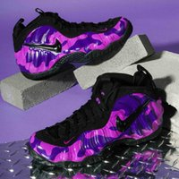 Wholesale air penny shoes resale online - 624041 AIR FOAMPOSITE one PRO Purple Camo Mens basketball shoes air penny hardaway foam one men sports sneakers
