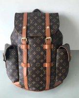 0a6df4ebe8cb LOUIS VUITTON SUPREME Leather JOSH backpack MICHAEL 0 KOR top quality old  flower shoulder bag famous sac de voyage marque messenger package LV YSL  PRADA ...