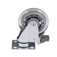 Wholesale furniture chair casters for sale - Group buy flat furniture caster Medical bed chair nylon universal instrument caster with brake chair swivel Medical Equipment wheel