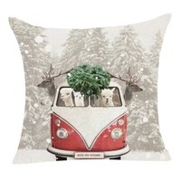 Wholesale decoratives for sale - Group buy Christmas cushion covers Pillow covers Decor Pillow Case Sofa Waist Throw Decoratives sofa Cushion Cover christmas pillowcase