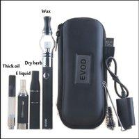 kit de démarrage pour vaporisateur evod achat en gros de-EVOD Vaporisateur 4 dans 1 Kits de démarrage CE3 Kit de cartouches de réservoir de vaporisation en verre
