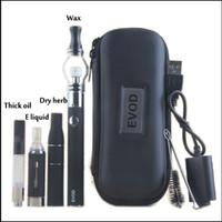 evod vaporizer starter kit großhandel-EVOD Vaporizer 4 in 1 Starter Kits CE3 Tank Vape Patronen Kit Glaskugel-Zerstäuber-Trockenkräuter-Vaporizer Wax Thick Oil Vape Battery