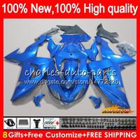 kawasaki ninja için fairing kitleri toptan satış-Vücut KAWASAKI Parlak mavi sıcak ZX 10 R ZX1000 ZX10R 06 07 Kaporta 44HC.7 ZX1000 CC ZX10R 06 07 ZX 1000cc ZX 10R 2006 2007 Fairing kiti