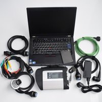 Wholesale xentry diagnostic tool resale online - Multi language OBD2 scanner MB STAR C4 with Laptop t410 and xentry SSD full set car Diagnostic tool sd Connector star c4