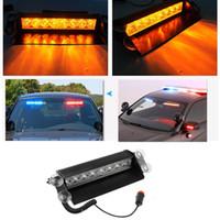 caminhão de luz led flash venda por atacado-Caminhão do carro de Emergência Flasher Dash Strobe Luz de Advertência Dia Correndo Flash Led Polícia Luzes 8 LEDs 3 Modos de Pisca 12 V