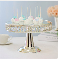 Wholesale mirrored stands for sale - Group buy Silver Plating Cake Stand Holder Hollow Crystal Table Decor Party Supplies Wedding Props Fruit Display Holder With Mirror Golden Silver