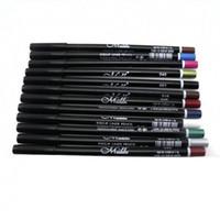 kaş makyajı parıltısı toptan satış-MENOW 12 Renkler EyeLiner Kalem Kalem Kaş Glitter Gölge Kozmetik Makyaj Seti Kiti Freeshipping 5p921