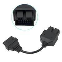 устройство считывания кода pin-кода автомобиля оптовых-OBD 2 Cable for KIA 20 Pin To 16 Pin OBD2 OBD Diagnostic Tool Scanner Code Reader Adapter Car Connector Cable for KIA 20Pin