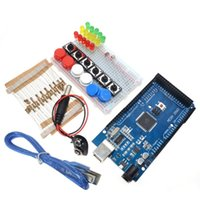 Wholesale led jumpers resale online - Freeshipping Smart Electronics Integrated Starter Kit Mega mini Breadboard LED jumper wire button for kit compatile