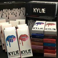 Wholesale quality lip liners for sale - Group buy High quality LIP KIT liner Lipliner pencil and Liquid Matte Lipstick Makeup Lip Gloss set Make Up colors DHL FREE