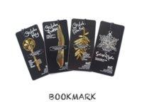 deixa marcador venda por atacado-Marcadores de ouro com cartão de Metal livro marca Elegante Clipe de Papel folha chave forma marcadores adorável leitura ajudante marcador