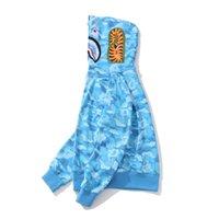 hoodie adolescente venda por atacado-Casual completa Zipper preto Hoodies hop com capuz Men Hoodies Sweater New Arrival Adolescente Blue Pink Camo Hip