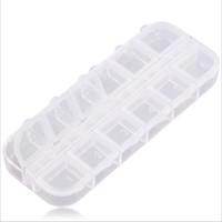 контейнеры для пластмассовых изделий оптовых-Пластиковый Контейнер Для Хранения Box 12 Отсек Пустой Пластиковый Контейнер Для Хранения Box для Ногтей Продукты Женщины Ювелирные Изделия